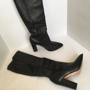 Loeffler Randall Minetta Knee High Leather Boots